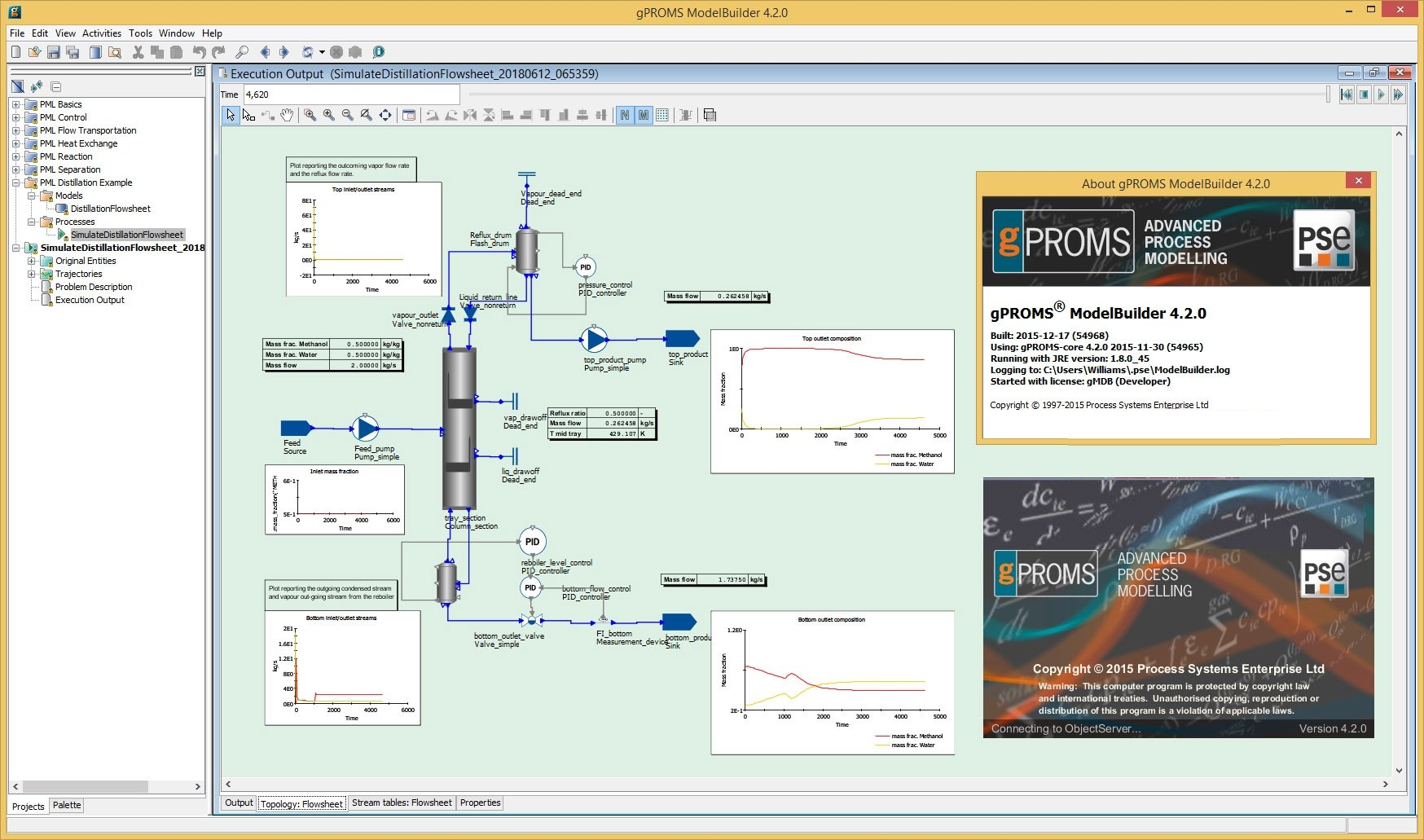 Working with PSE gPROMS ModelBuilder 4.20 full license