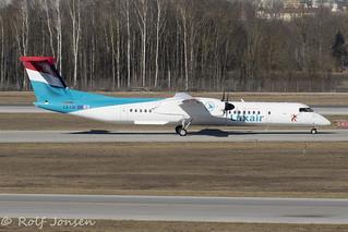 LX-LGF Bombardier Dash 8-400 Luxair Munich Airport EDDM 18.02-19