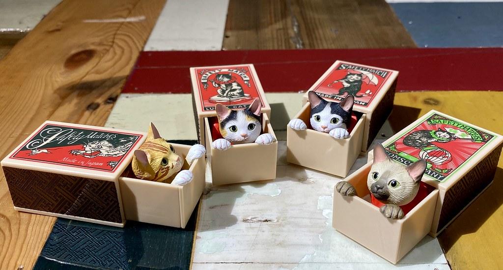 一拉開就萌翻人! 奇譚俱樂部 將日本動物造型作家「船橋つとむ」所創作的「火柴盒貓(マッチボックス猫)」轉蛋化啦~