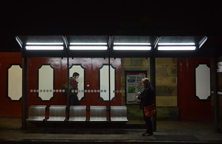 Preston bus shelter at night | by Tony Worrall