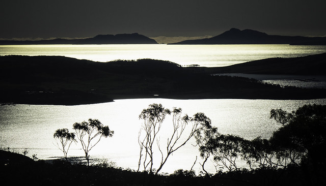 Sunshine on the water, around Orford, south east Tasmania-4