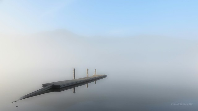 float in the fog