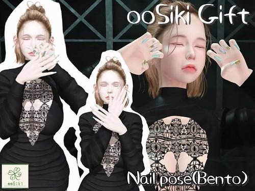 <ooSiki>Gift Bento Nail pose