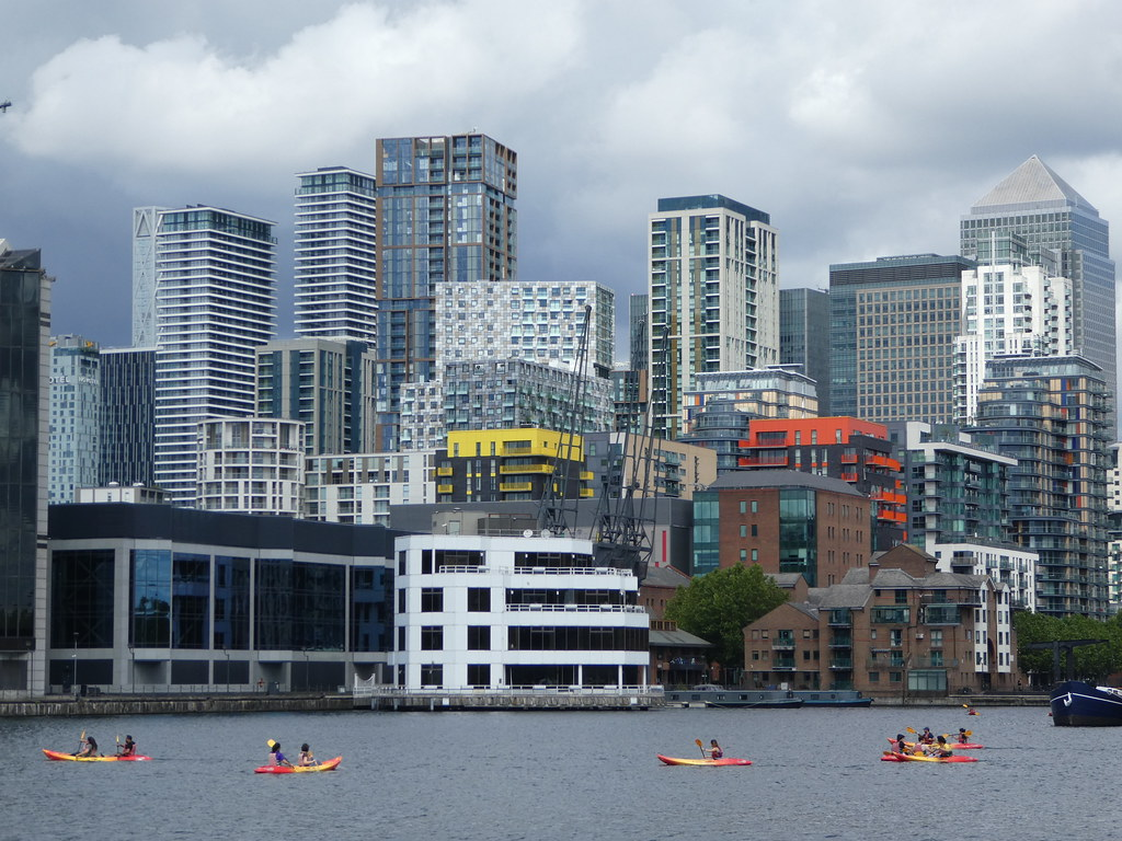 Kayaking near Canary Wharf
