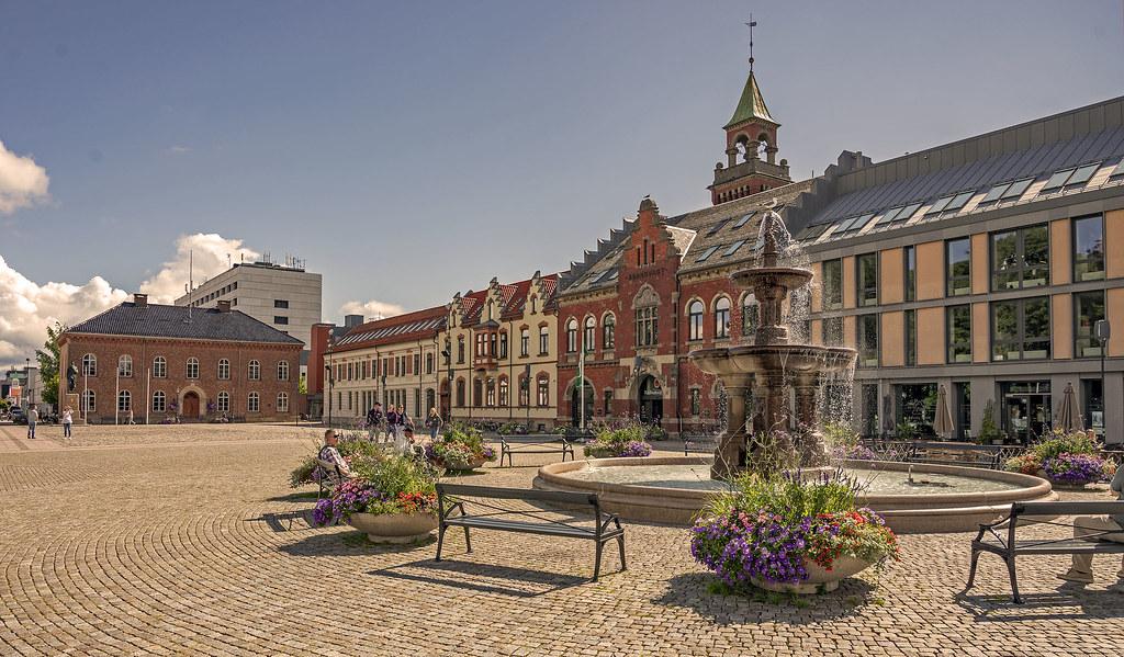 Upper square in Kristiansand