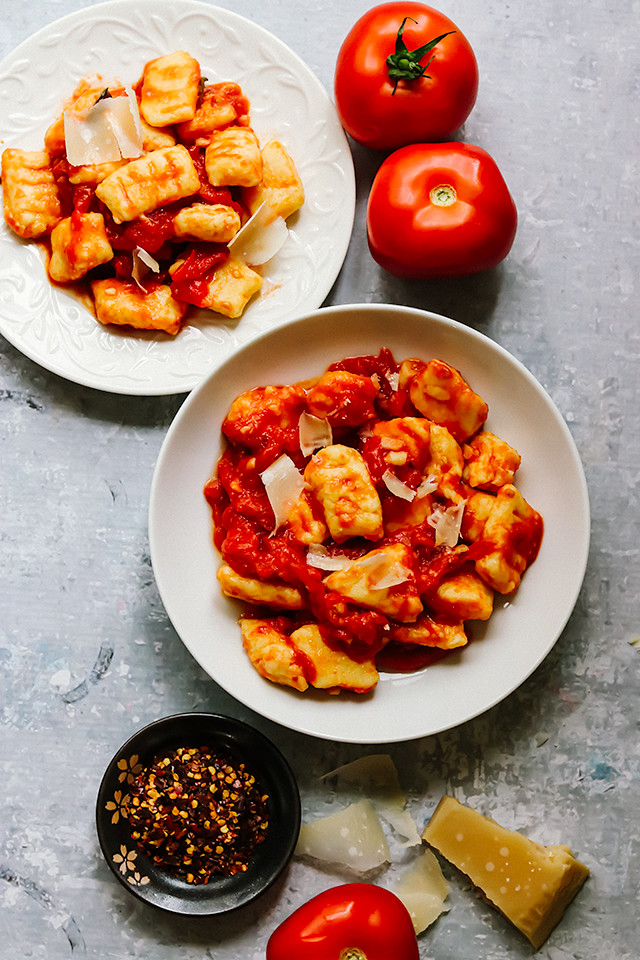 Homemade Potato Gnocchi with Fast Tomato Sauce