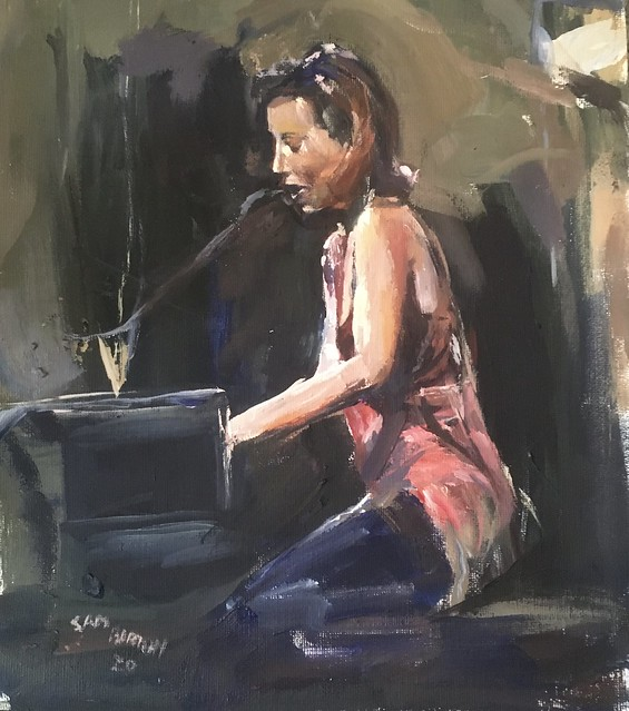 Another Performer painting