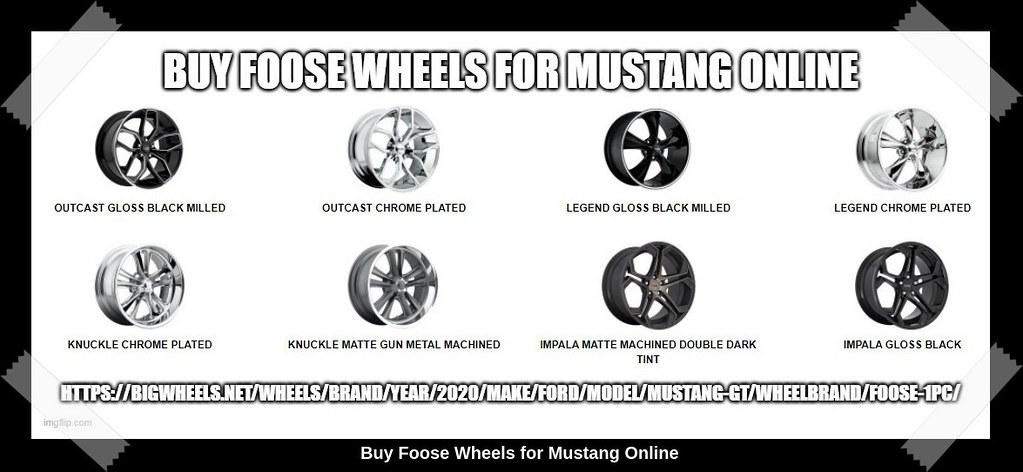 Buy Foose Wheels for Mustang Online, Bigwheels.net