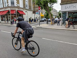 Gaisford Street cycle exception viewed from Kentish Town Road