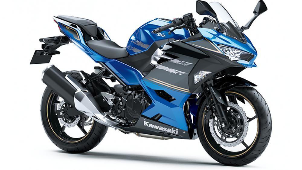 2021 New Kawasaki Ninja 400 Blue Black