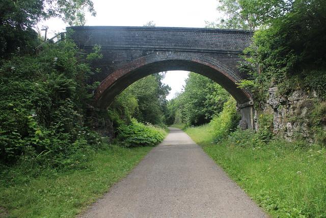 Farm overbridge near Litton   (Former Matlock to Buxton Line)   February 2020