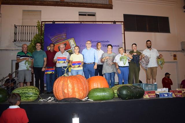 Ganadores del concurso de uvas, sandías y calabazas  (año 2019)