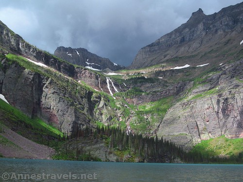 Stormy day over Grinnell Lake, Glacier National Park, Montana