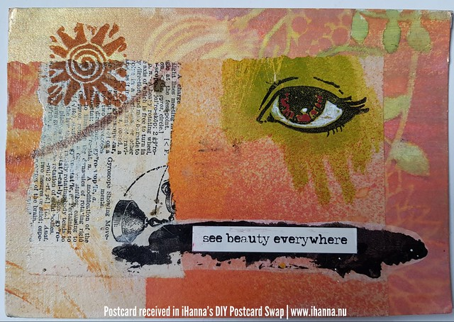 See beauty everywhere! DIY Postcard made by Sharon H, US
