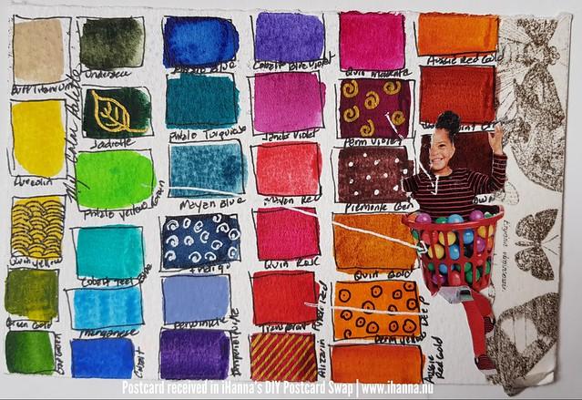 DIY Postcard made by Wendy, Washington, US