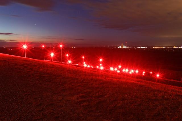 Halde Rheinpreußen Red Lights