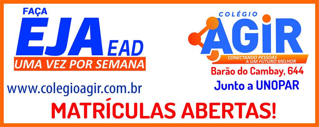Faça seu EJA no Colégio Agir, em São Gabriel, junto à Unopar