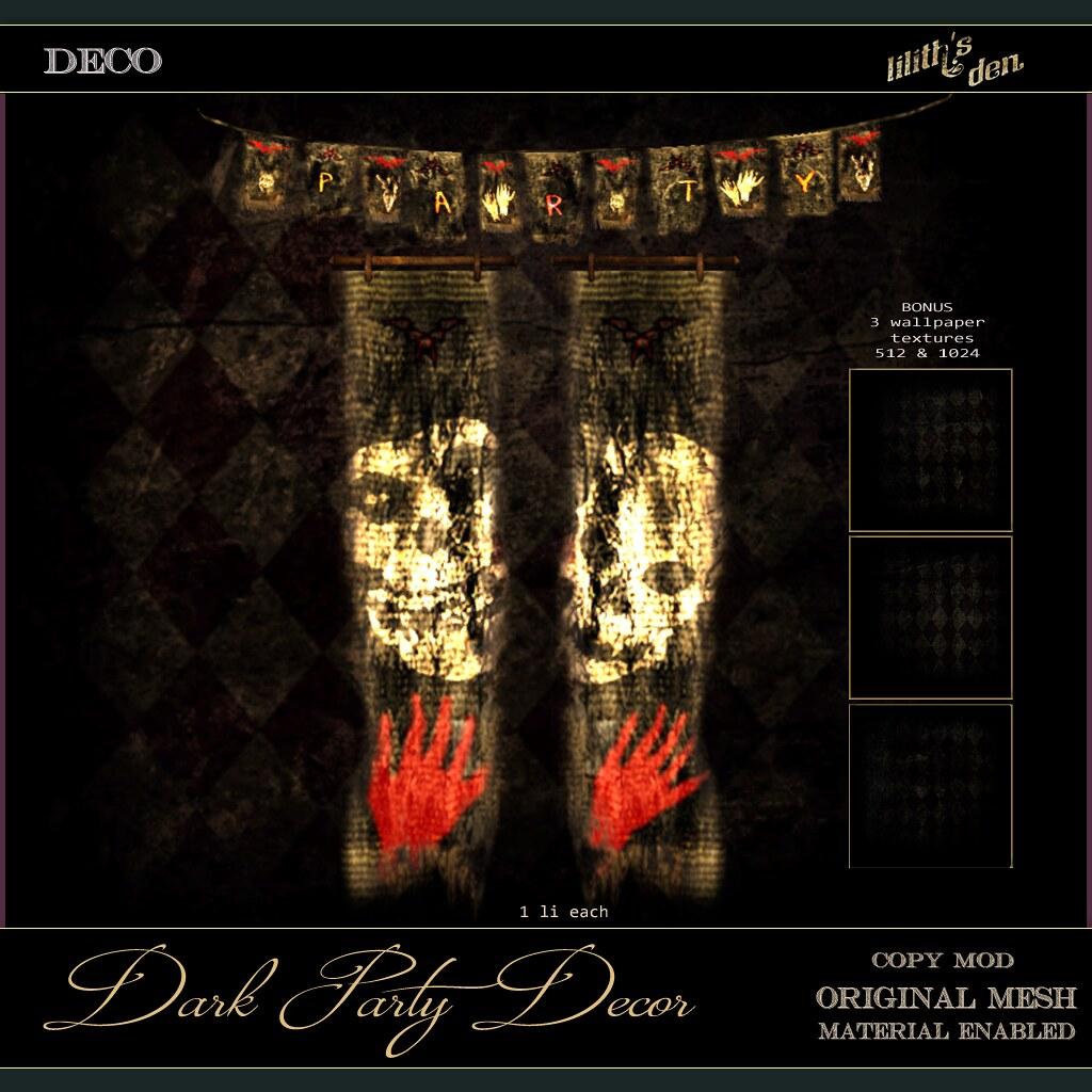 Lilith's Den – Dark Party Decor