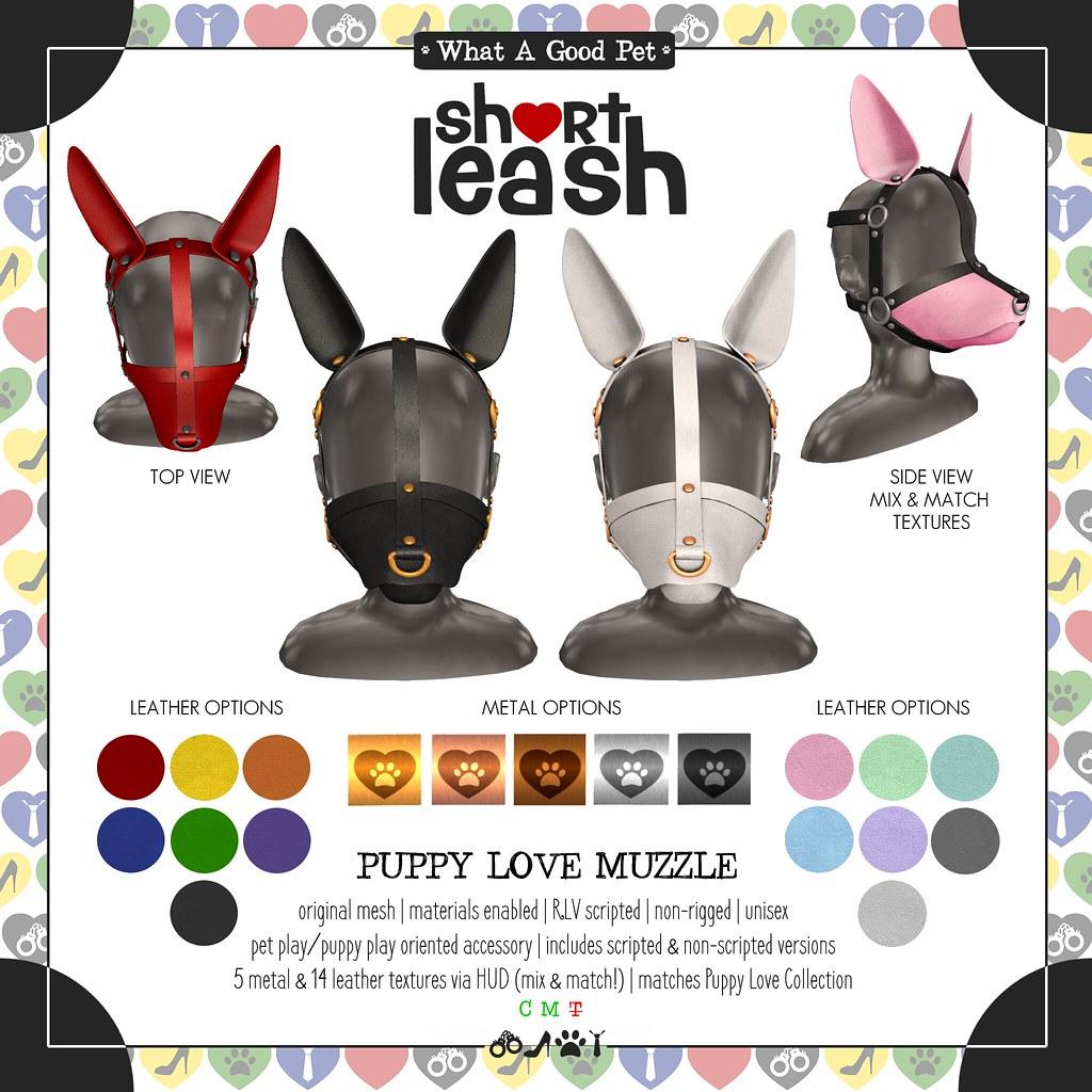 .:Short Leash:. Puppy Love Muzzle