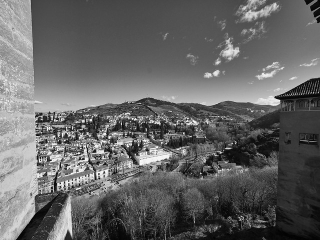 Alhambra view to Albaicin and Sacromonte, Granada, Spain