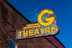 G Theatre Sign in Mossyrock, Washington