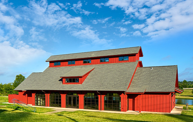 Exterior of the Agricultural Heritage Park Pavilion