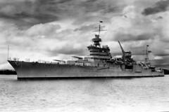 USS Indianapolis (CA 35) sails through Pearl Harbor in 1937. (U.S. Navy)