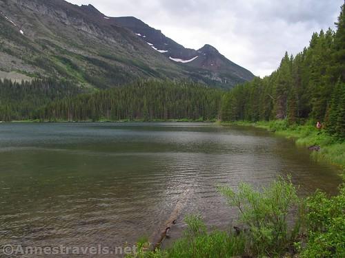 Hiking along Swiftcurrent Lake, Glacier National Park, Montana