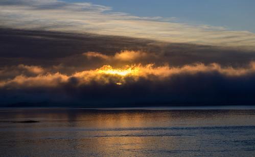 новаязеландия newzealand пейзаж landscape остров island море океан sea ocean гора залив mountain dmilokt рассвет sunrise