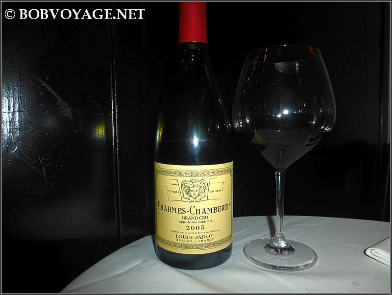 Louis Jadot Charmes Chambertin 2005 ששתינו ב- הוטל מונטיפיורי (Hotel Montefiore)