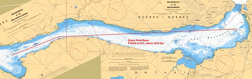 Stony Point Course on Chart