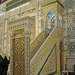 Damascus Umayyad (or Great) Mosque (Jamia al-Umawi) 708-715 Umayyad Prayer Hall minbar (pulpit) (1e)