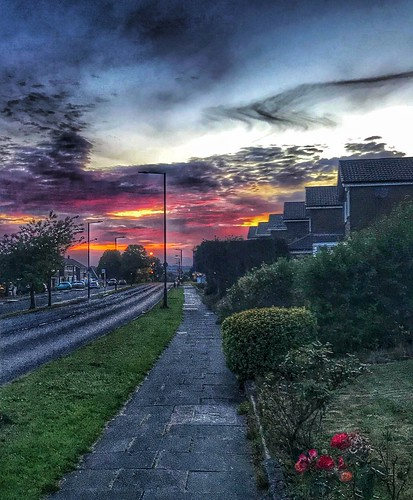 street road urban newcastle westerhope sunset appleiphone7plus