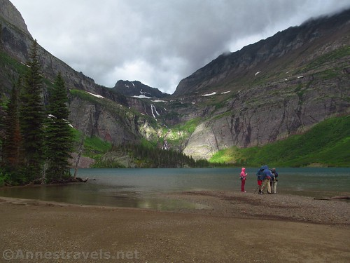 The first beach at Grinnell Lake, Glacier National Park, Montana