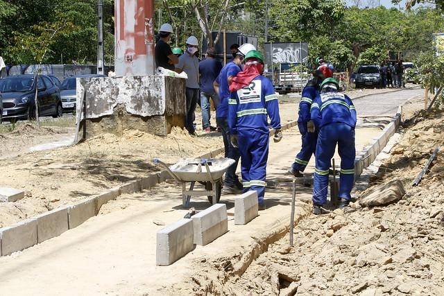 29.07.20. Prefeitura segue obras de implantação de novas ciclovias, ciclofaixa e faixa recreativas em Manaus