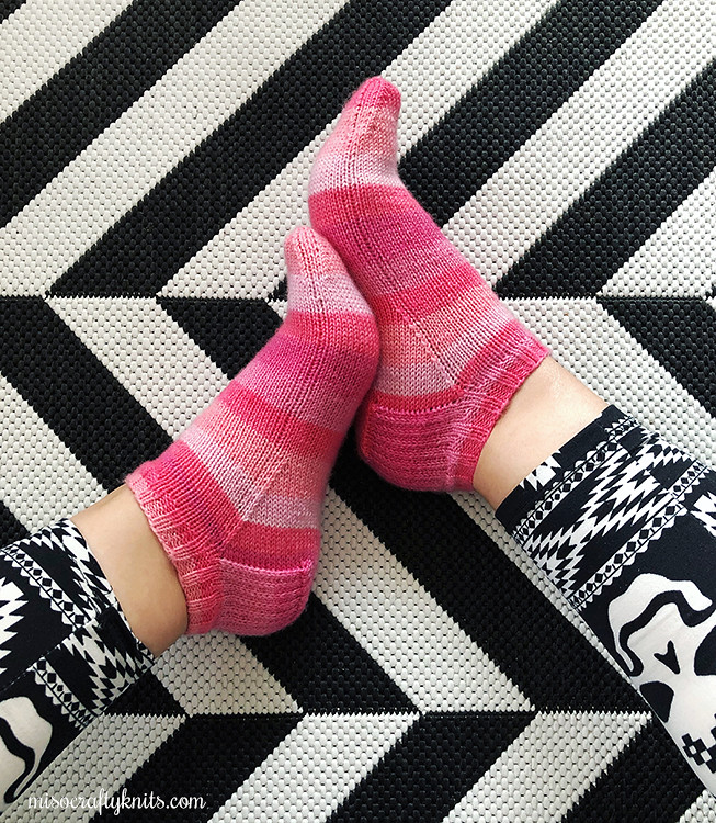 Positively Pink Shortie Socks