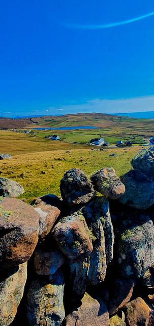 Stone wall at Clashmore