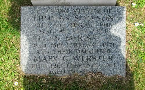 Lower Inscription War Grave Upper Largo Kirkyard