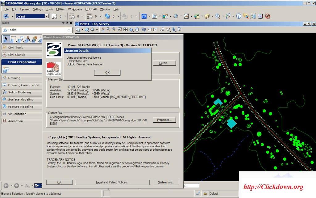 Working with Bentley GEOPAK Civil Engineering Suite V8i v08.11.09.903