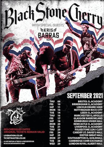 Black Stone Cherry Postpone UK Tour To 2021