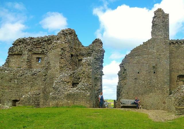 Inside Carreg Cennen Castle in Wales