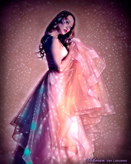 Fairy Tale Sparkling Pink Fashion Model