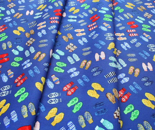 Windham Fabrics Winter Gnomes 51877-4 Mittens in Nordic