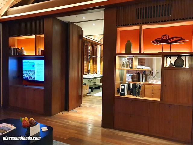datai rainforest villa living room tv side