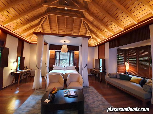 datai rainforest villa bedroom