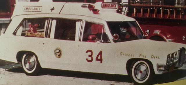 Did you know that Chicago fire Department had a white Pontiac ambulance?