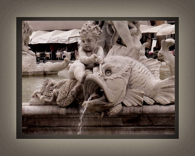 Rome, May 2015, The Fountain in the Piazza Navona (3)A