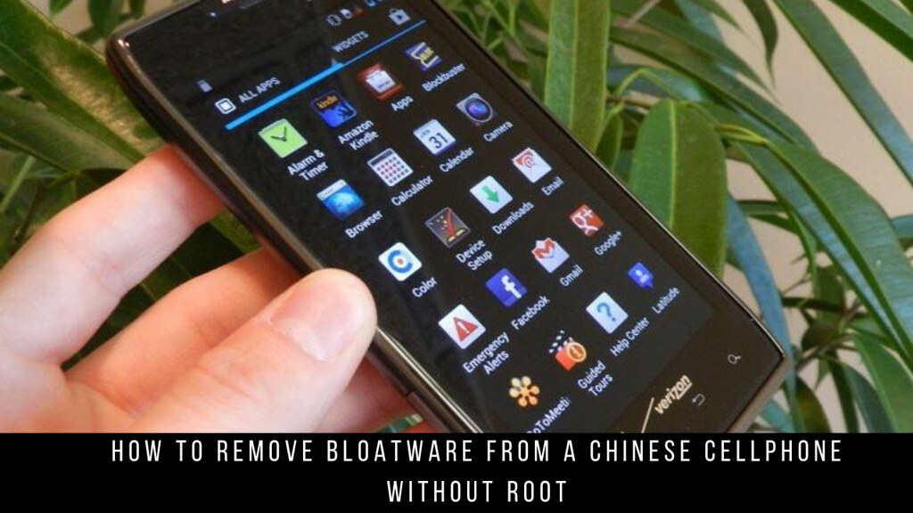 How to Remove Bloatware from a Chinese Cellphone without Root