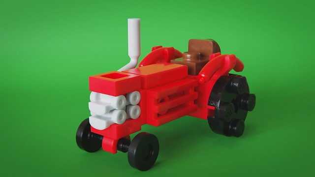 Microscale old tractor