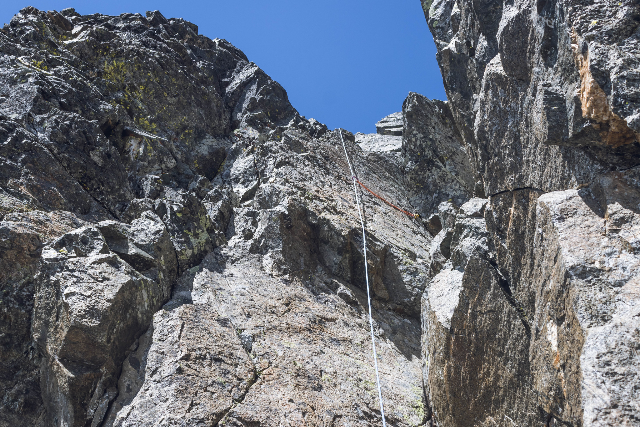 The chimney crux